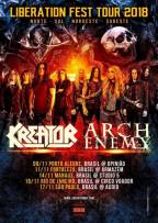 Liberation Fest Tour 2018: Kreator e Arch Enemy anunciam 5 datas no Brasil