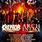Liberation Fest Tour 2018: Kreator e Arch Enemy anunciam 5 datas no Brasil